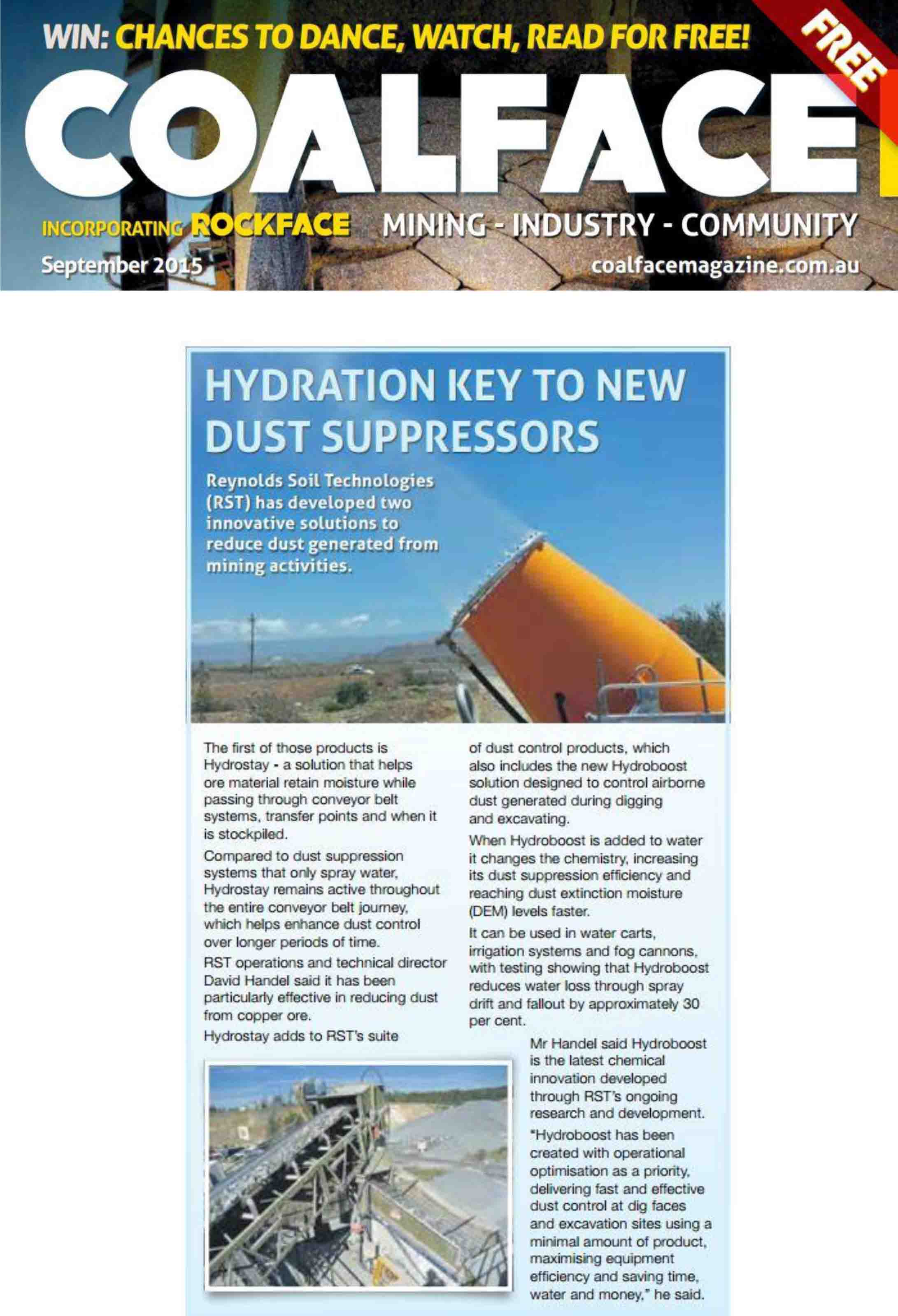 Hydration key to new dust suppressors