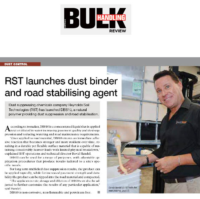 RST Launches Dust Binder and Road Stabilising Agent