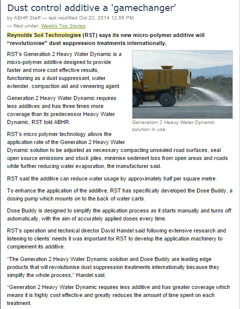 2014 October - Australian Bulk Handling Review - Generation II Heavy Water Dynamic