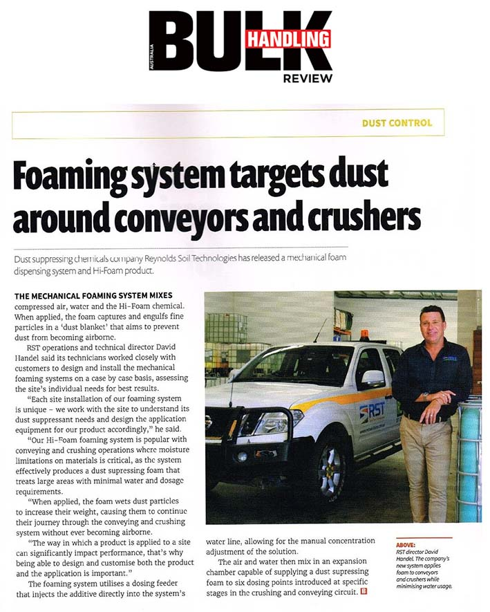 Foaming System Targets Dust Around Conveyors and Crushers