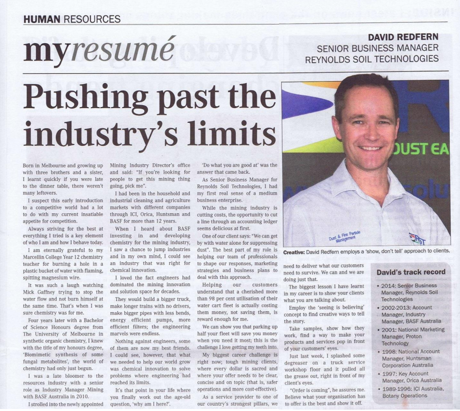 Mining Chronicle_My Resume_David Redfern_RST_Nov 14.PNG