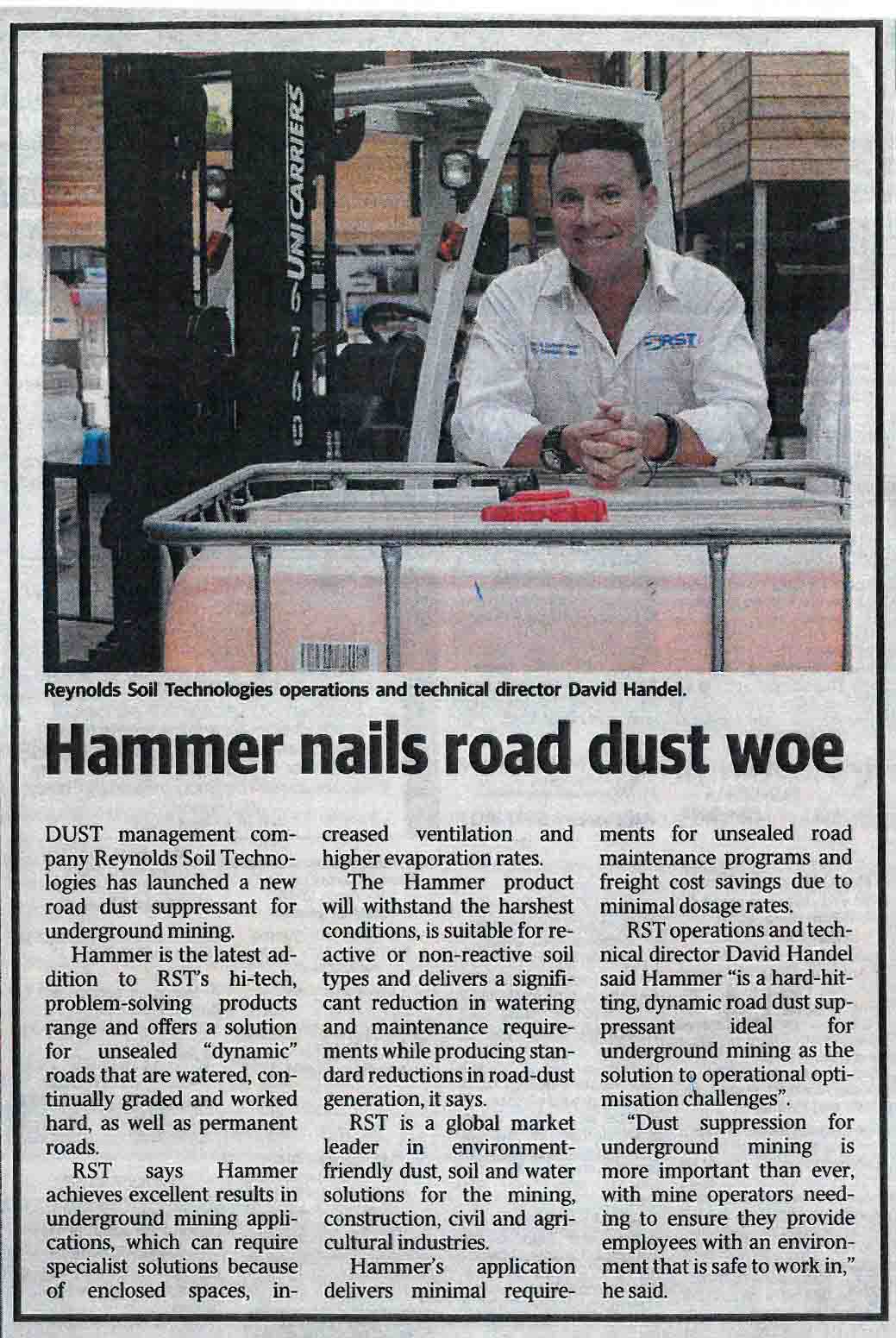 Hammer nails road dust woe