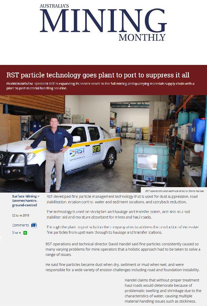 RST Particle Technology Goes Plant to Port to Suppress It All