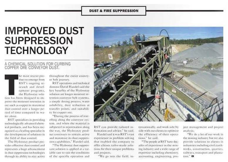 Improved Dust Suppression Technology