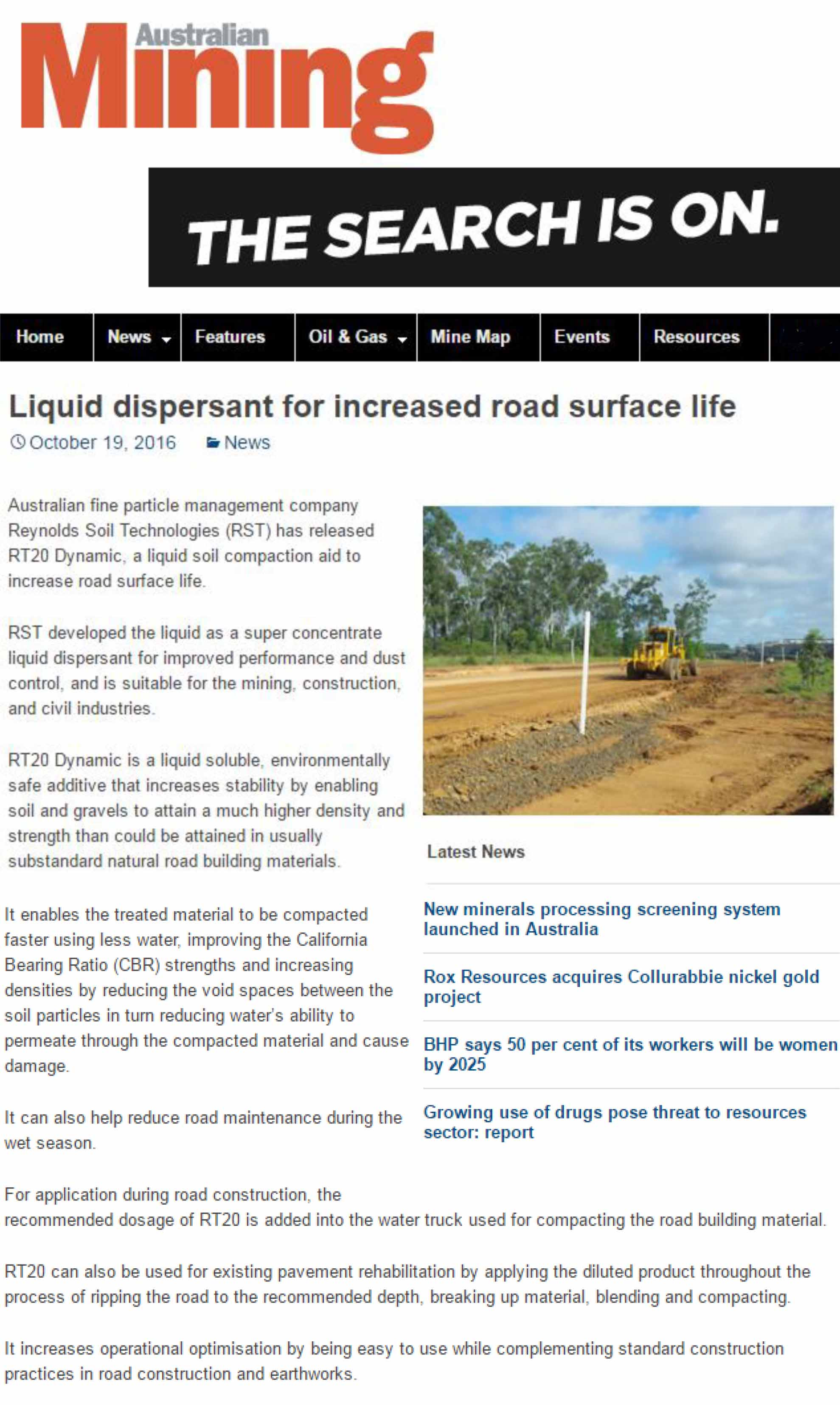 Liquid Dispersant for Increased Road Surface Life