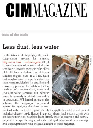 Less Dust, Less Water